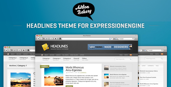 Headlines - Stylish Magazine EE Theme