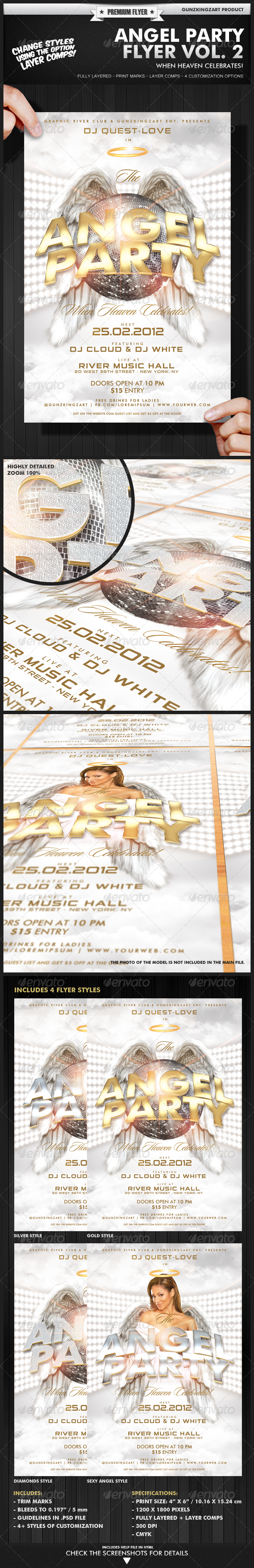 Angel Party Flyer Vol. 2 - Clubs &amp; Parties Events