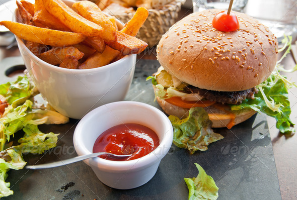 Stock Photo - PhotoDune Cheese burger 1569178