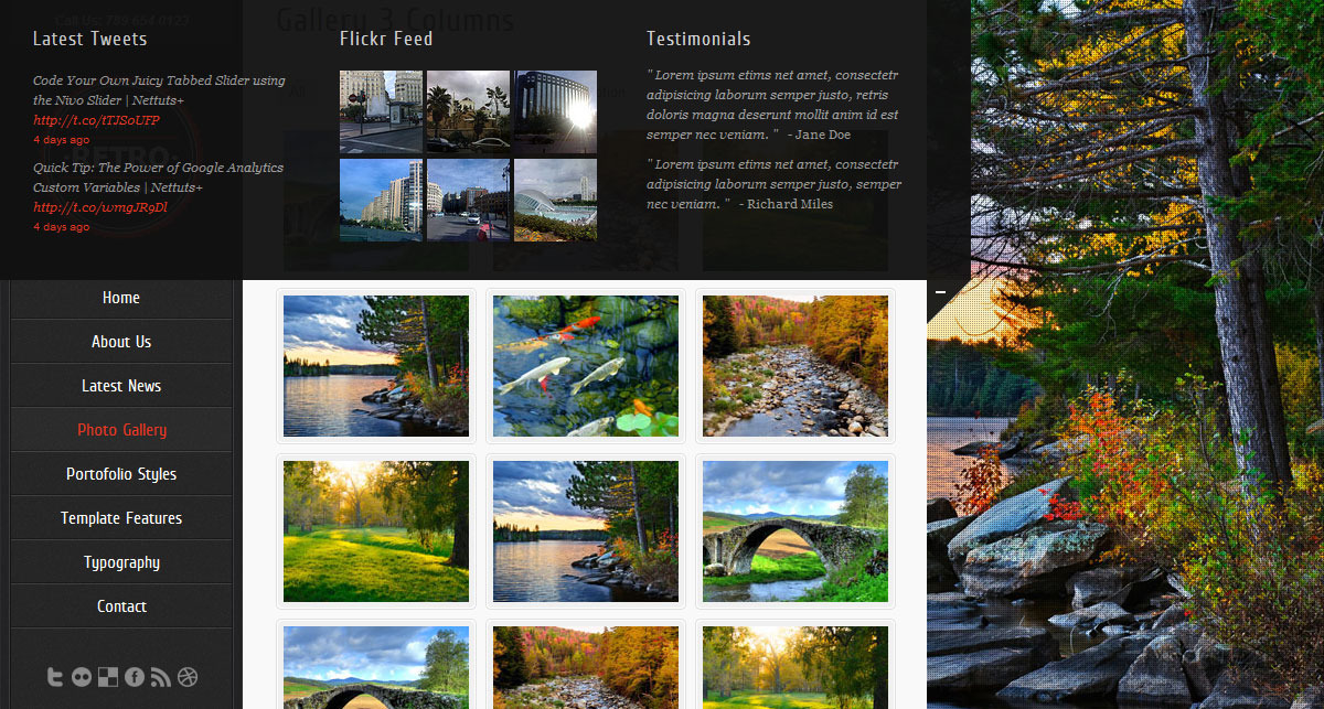 Retro - HTML5 Template - Screenshot 6