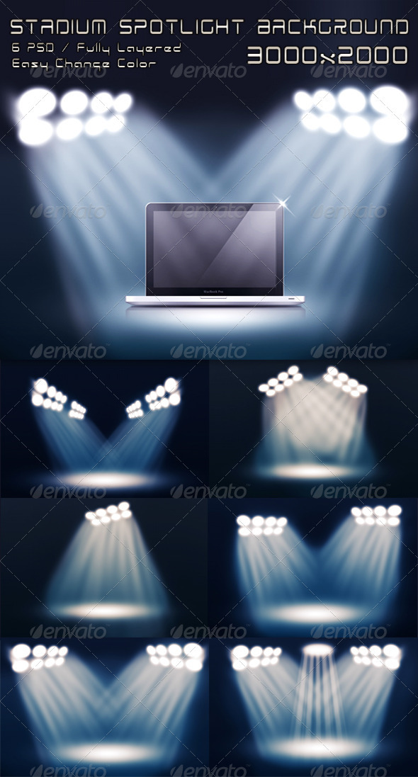 GraphicRiver Stadium Spotlight Background 1561294
