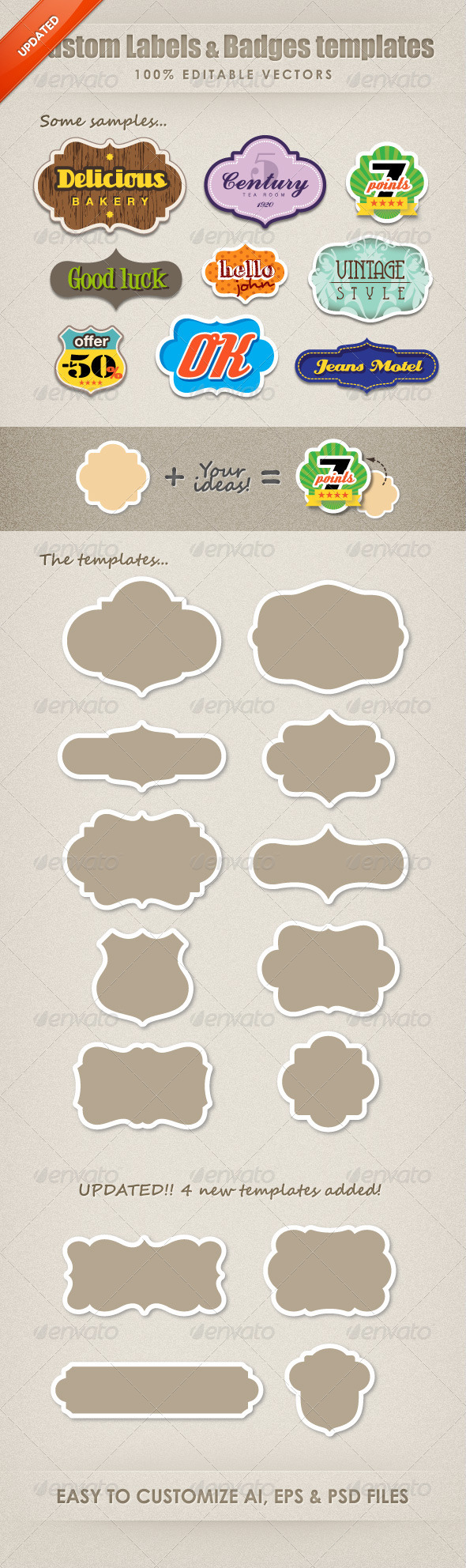 GraphicRiver Custom Labels & badges Templates 649144
