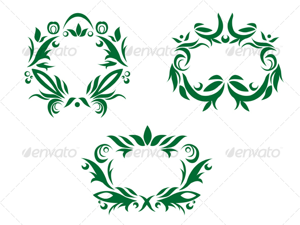 Flourishes decorations - Flourishes / Swirls Decorative