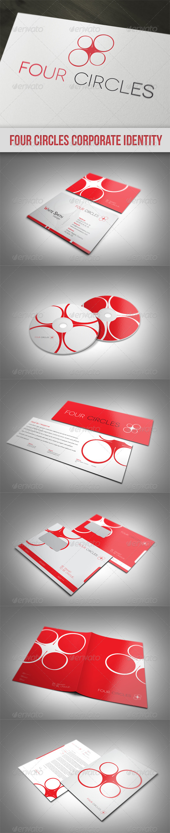 GraphicRiver Four Circles Corporate Identity 1564478