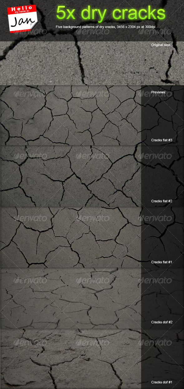 GraphicRiver 5x dry cracks background patterns 60257