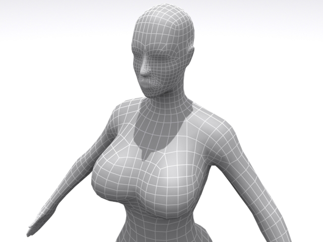 3DOcean High Resolution Female Base 3D Models -  Humans  Female 1565643