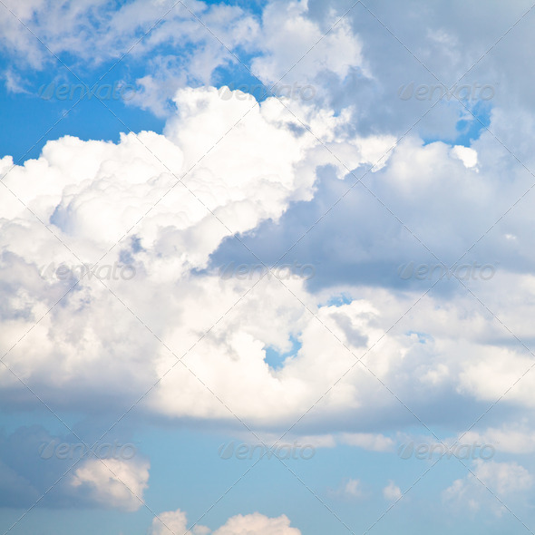 Blue Sky with White Clouds - Stock Photo - Images