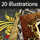 20 Gold Vector Illustrations - GraphicRiver Item for Sale