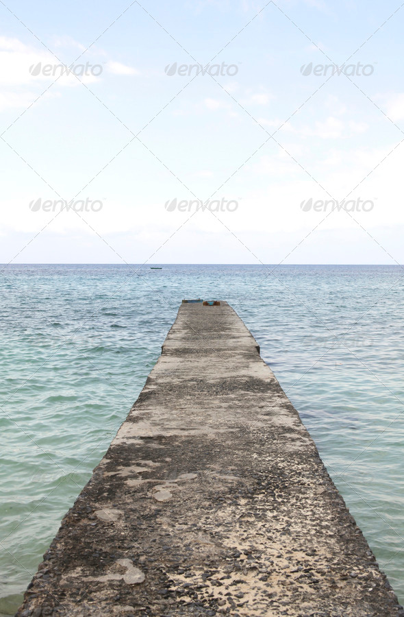 Concrete jetty - Stock Photo - Images