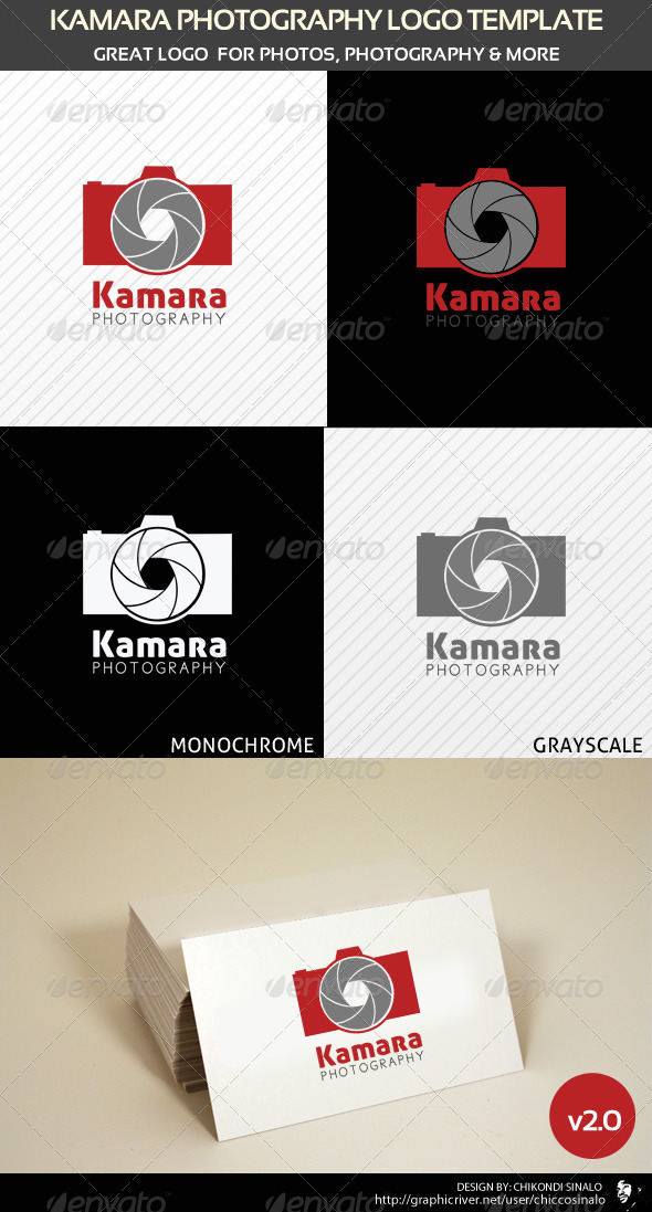 Kamara Photography Logo Template v2 - Abstract Logo Templates