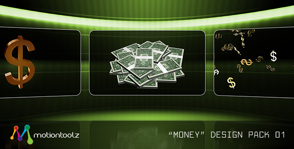 Money Design Pack 01 VideoHive Motion Graphic  Elements  3D Object 1571996