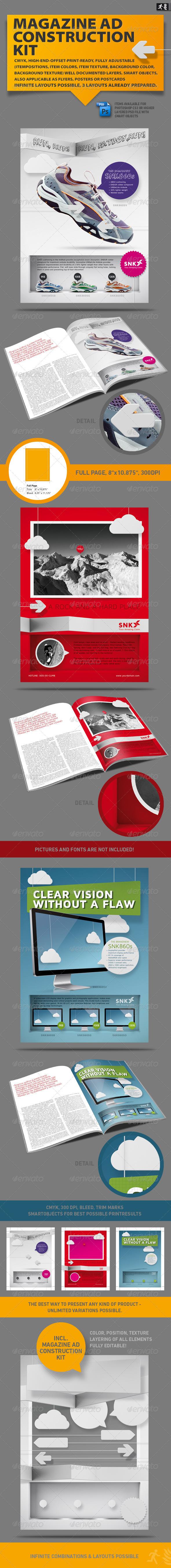 GraphicRiver Magazine AD Construction Set 1572126