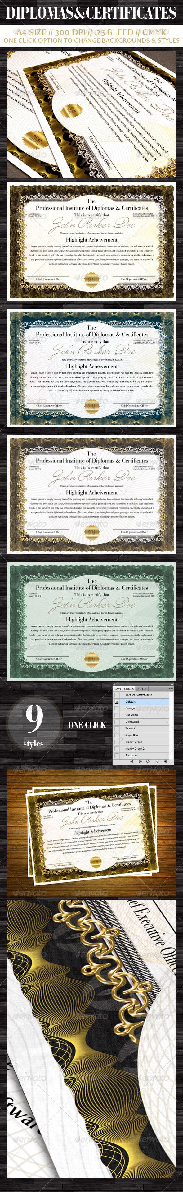 GraphicRiver Diplomas & Certificates 1573633