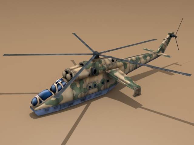 Mi-24 Hind D - 3DOcean Item for Sale