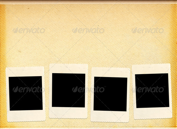 Blank photo album - Stock Photo - Images