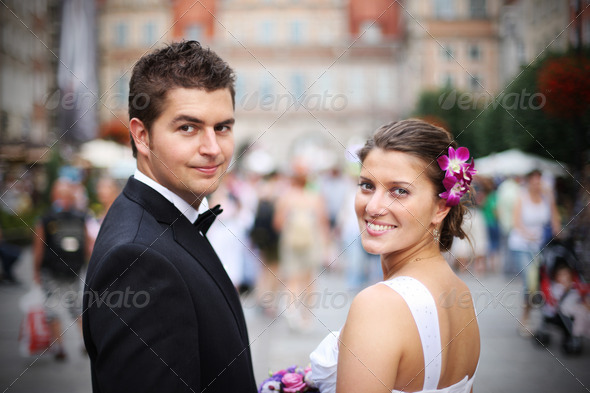 Wedding couple - Stock Photo - Images