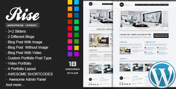 RISE - Premium WordPress Theme