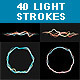 40 Light Strokes - GraphicRiver Item for Sale
