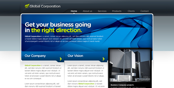 Business Template #07 - Corporate PSD Templates