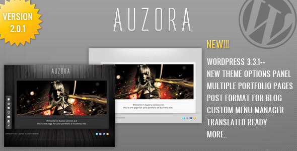 Auzora - One Page Portfolio and Business theme - Auzora Preview