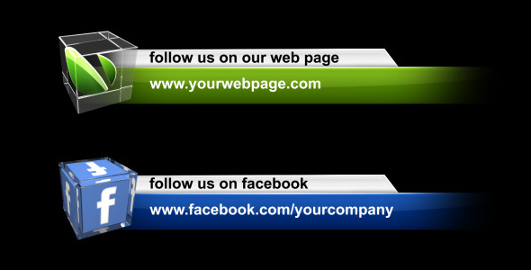 After Effects Project - VideoHive Social Media Lower Third Pack 1577366