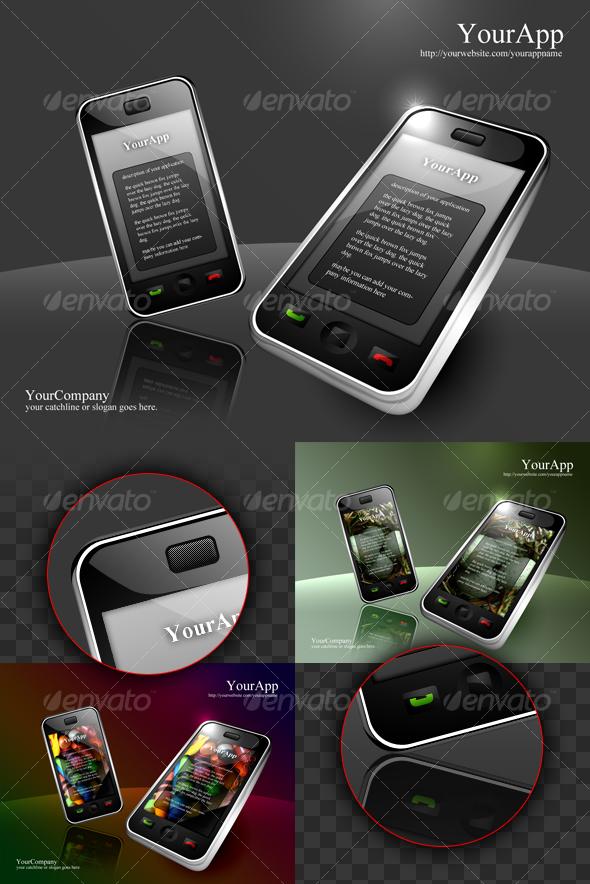 GraphicRiver smart phone apps presentation 61960