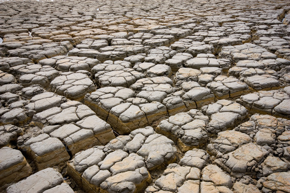 Dry,Soil dry at industrail area Rayong Thailand - Stock Photo - Images