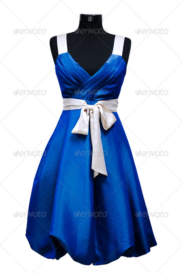 blue female dress - Stock Photo - Images