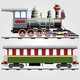 Retro steam train with coach - GraphicRiver Item for Sale