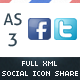 AS3 Full XML Social Networks Sharing System - ActiveDen Item for Sale