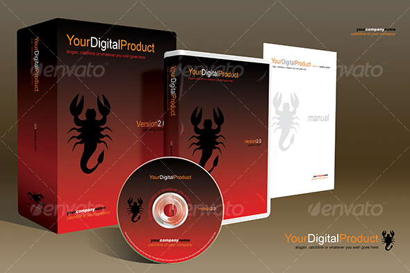 GraphicRiver softbox digital product packagin mockup 48591