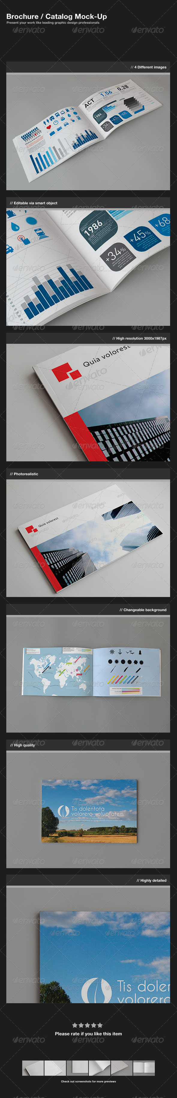 GraphicRiver Brochure Catalog Mock-Up 1583241