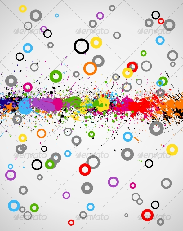 GraphicRiver Color paint splashes background 62125