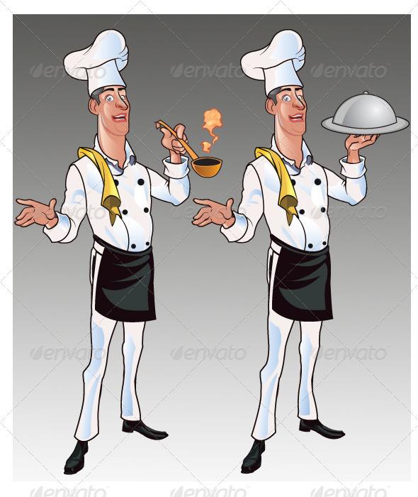 GraphicRiver Chef Cartoon 1584473