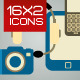 Computers And Electronics Icons - GraphicRiver Item for Sale