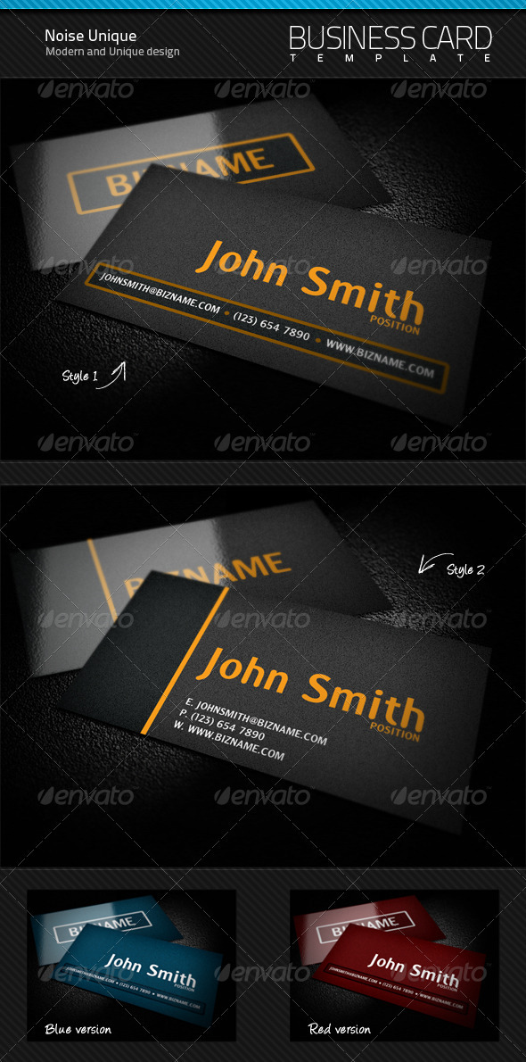 Noise Unique Business Card - Creative Business Cards
