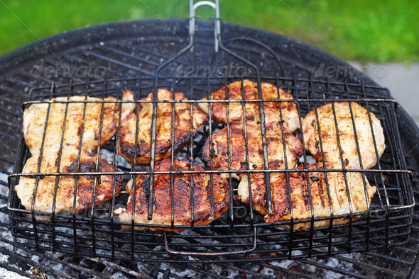 grilled chicken meat - Stock Photo - Images