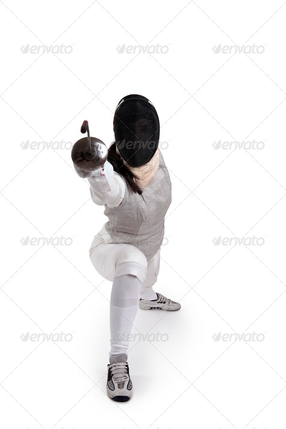 Female fencer - Stock Photo - Images