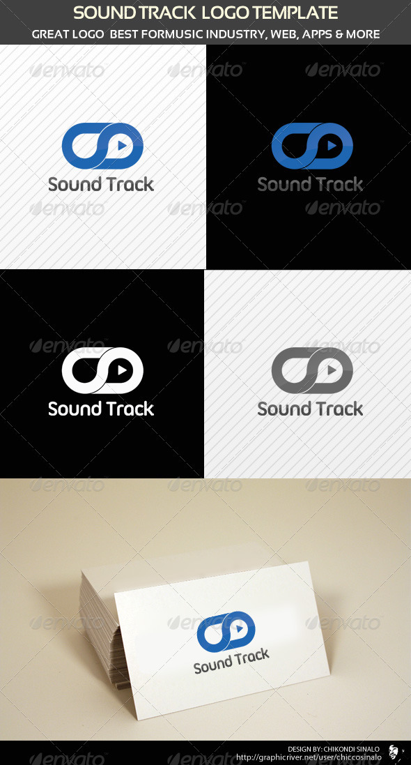 Sound Track Logo Template - Abstract Logo Templates