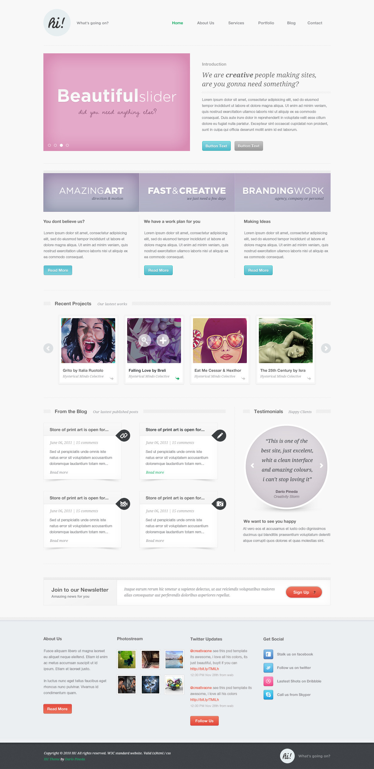 Hi! Creative Portfolio WordPress Version