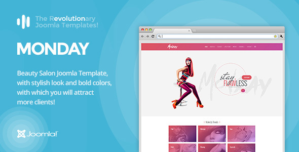 It Monday Professional Joomla Template For Hair And