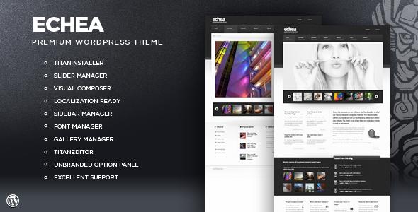 ThemeForest Echea Premium WordPress Portfolio Theme 301876