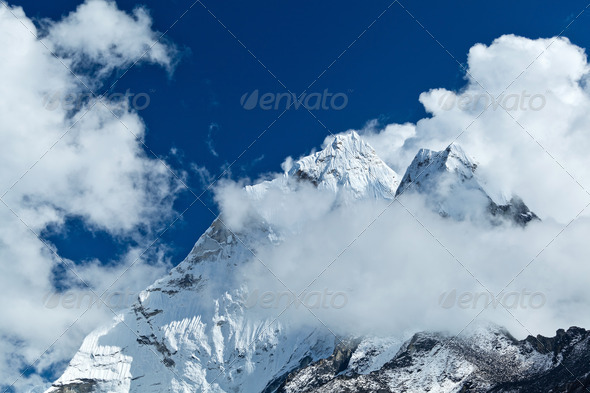 Himalayas landscape, Mount Ama Dablam - Stock Photo - Images