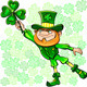 Vector St. Patrick's Day Leprechaun with Clover - GraphicRiver Item for Sale