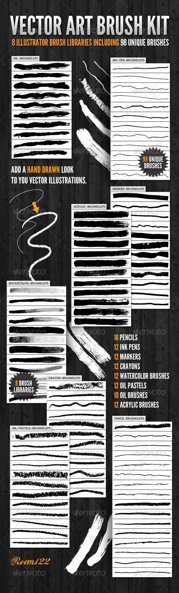 Vector Art Brush Kit - Artistic Brushes