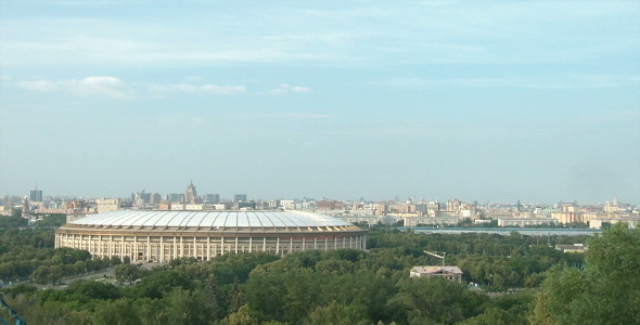 Luzhniki Stadium In Moscow Time Lapse VideoHive Stock Footage  Time Lapse 1589872