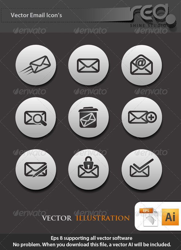 Email Icon Vector Pack - Web Elements Vectors
