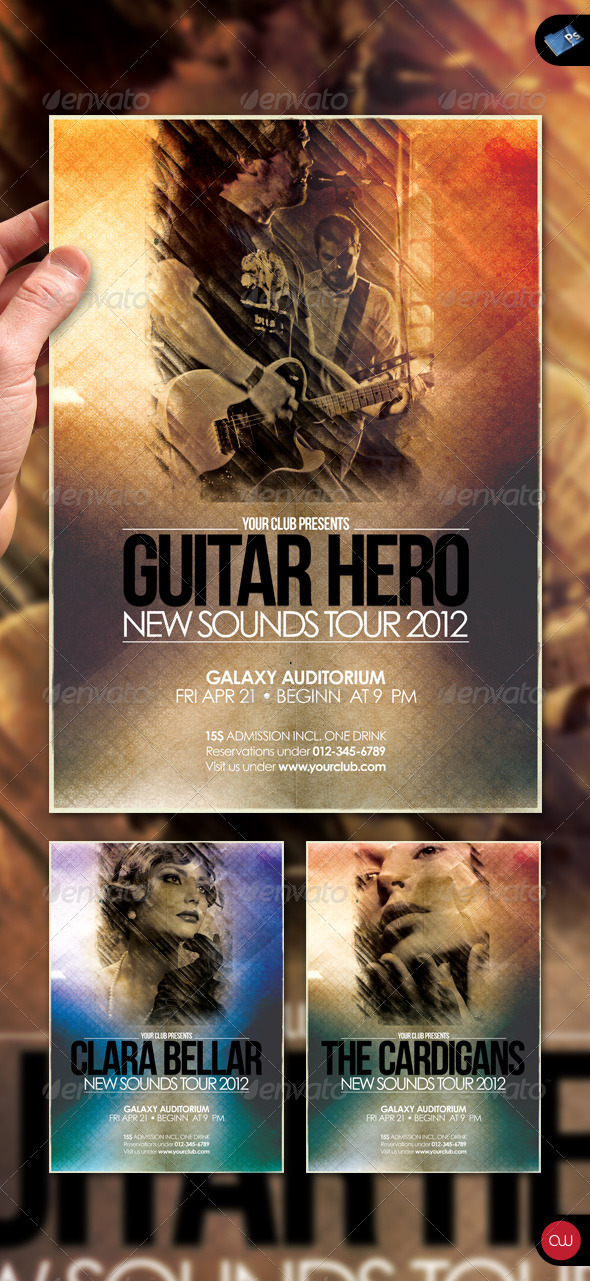 GraphicRiver Music & Event Flyer Guitar Hero 1591122