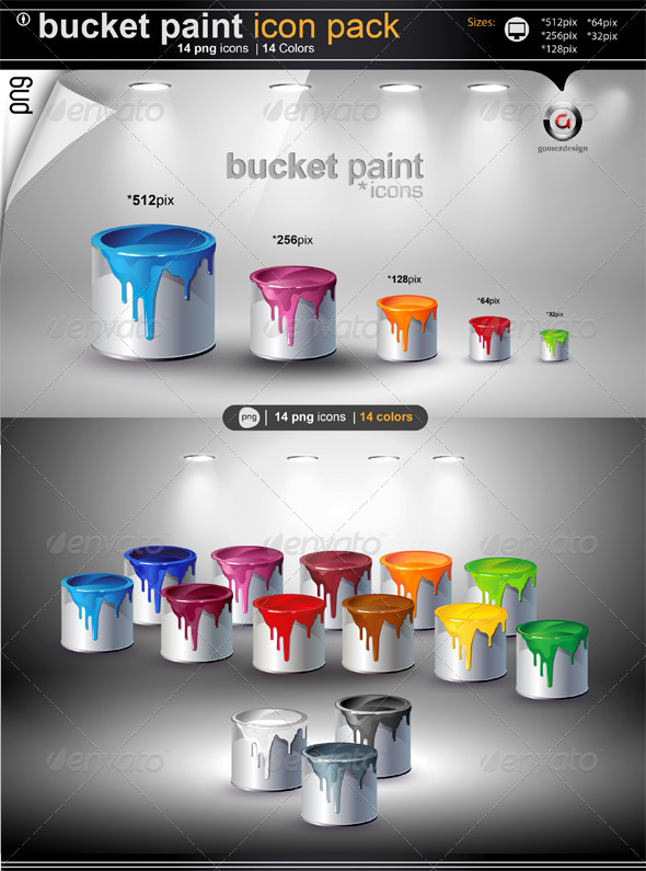 Buket Paint Icons - Objects Icons