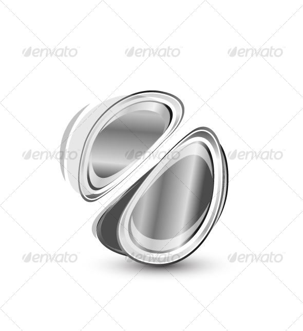 Abstract metal shape - Abstract Conceptual